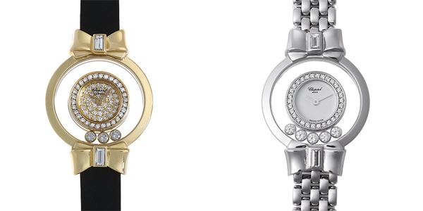 彼女へのクリスマスプレゼント 高級腕時計 ショパール ハッピーダイヤモンド