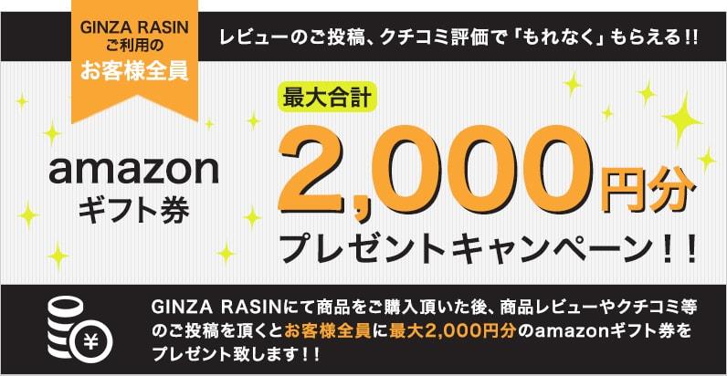 amazonギフト券 最大2,000円分プレゼントキャンペーン