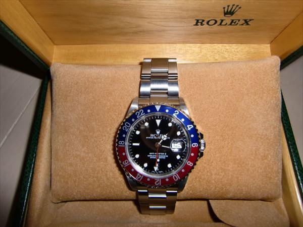 ロレックス GMTマスターII 赤青ベゼル A番 16710