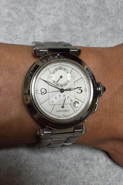 カルティエ パシャ パワーリザーブ GMT W31037H3