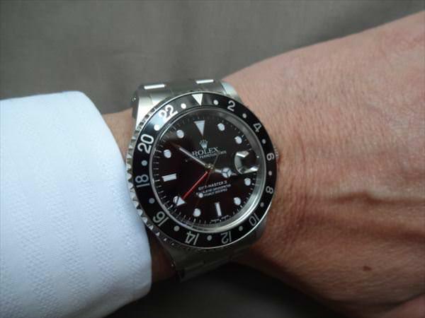 ロレックス GMTマスターII 黒ベゼル A番 16710