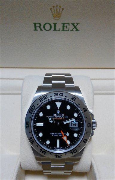ロレックス エクスプローラーII 216570 ブラック